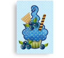 Blueberry Cupcake Canvas Print