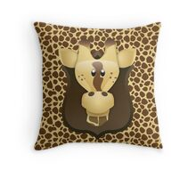 Zoo animals wildlife - Giraffe Throw Pillow