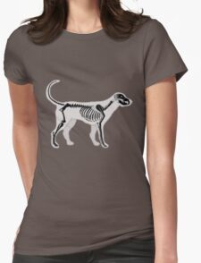 DOG ANATOMY X-RAY Womens Fitted T-Shirt