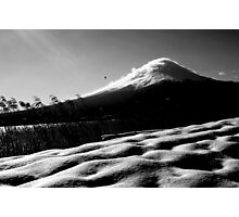 mt fuji - you are wise to climb mt fuji once and a fool to climb it twice Photographic Print