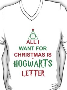 All I want for Christmas is my Hogwarts letter T-Shirt