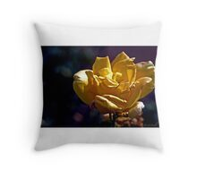 Dusty Yellow Rose Throw Pillow