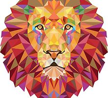 Colorful lion by julieeah