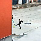 orange wall by Michael Douglass