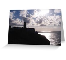 Lighthouse   Cape St. Vincent  Portugal Greeting Card