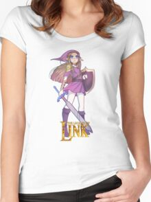 Female Link Purple Women's Fitted Scoop T-Shirt