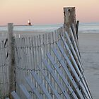Lighthouse with Fence by Jenni C