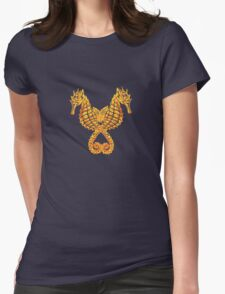 Sea Horses Tribal Tattoo Womens Fitted T-Shirt