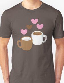 coffee and hot chocolate love Unisex T-Shirt