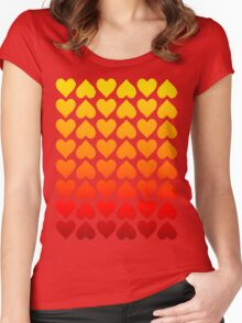 Cascading Hearts Women's Fitted Scoop T-Shirt