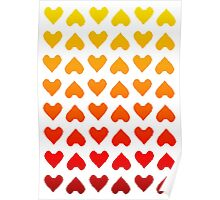 Cascading Hearts Poster