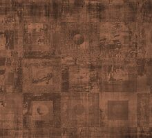 Grungy Abstract Brown Cube Pattern by ibadishi