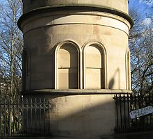 St Cuthberts: the gravewatcher's tower from the upper road by Yonmei