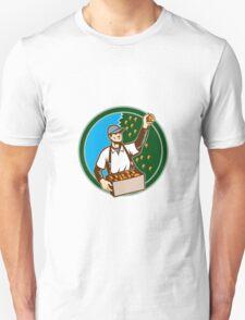 Fruit Picker Worker Picking Plum Circle T-Shirt