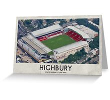 Vintage Football Grounds - Highbury (Arsenal FC) Greeting Card