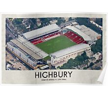 Vintage Football Grounds - Highbury (Arsenal FC) Poster