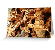 crumble cork decay  Greeting Card