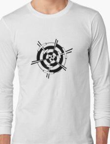Mandala 3 Back In Black Long Sleeve T-Shirt