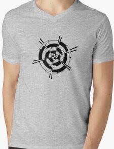 Mandala 3 Back In Black Mens V-Neck T-Shirt