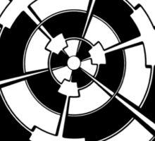 Mandala 3 Back In Black Sticker