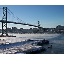 Halifax Bridge Span when it's cold outside Photographic Print