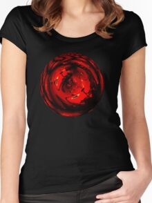 Ilotopie Fire Ball Women's Fitted Scoop T-Shirt