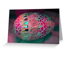 colored eggs Greeting Card