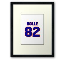 National football player Butch Rolle jersey 82 Framed Print