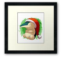Pokemon Christmas Santa Cyndaquil Framed Print