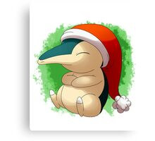 Pokemon Christmas Santa Cyndaquil Canvas Print