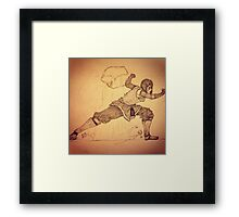 Korra earthbending Framed Print
