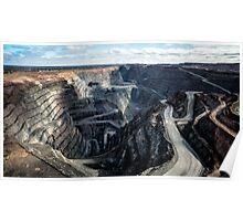 The Superpit goldmine at Kalgoorie - II (photo Dave Carter) Poster