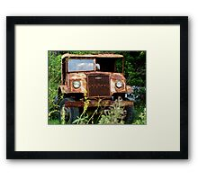 WW2 BLITZ TRUCK BY CHEV Framed Print