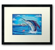 Whiplash - Sailfish Framed Print