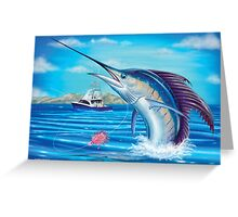Whiplash - Sailfish Greeting Card