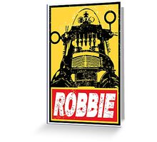 OBEY ROBBIE THE ROBOT  Greeting Card