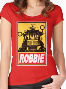 OBEY ROBBIE THE ROBOT  Women's Fitted Scoop T-Shirt