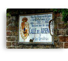 Calle del Arsena Canvas Print
