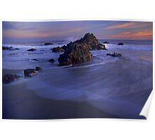 Ocean Waves Rodeo Beach Poster