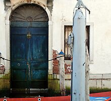 Blue door, red boat by mjds