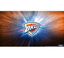 Oklahoma City Thunder Galaxy Logo Photographic Print
