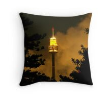 Centrepoint Tower On Fire (Sydney 2005) Throw Pillow