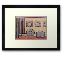 LEFT YOU AT THE BUS STOP Framed Print
