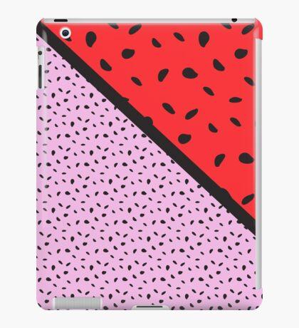 Pips - pink, red, black iPad Case/Skin