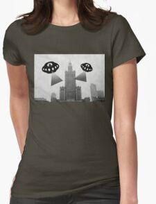 Aliens attack Warsaw Womens Fitted T-Shirt