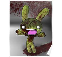Tombie the Zombie Bunny Poster