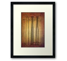 Baseball Bat From 1888 Framed Print