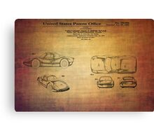 Ats Gt Porshe Patent From 1963 Canvas Print