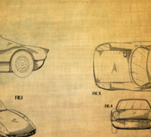 Ats Gt Porshe Patent From 1963 Sticker