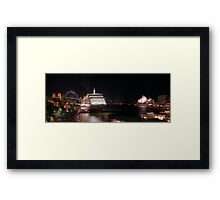 Queen Victoria between the icons Framed Print